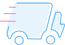 Delivery icon for The Laundry Room, Charlotte's best laundromat. Located on Arrowood Road, our store also offers dry cleaning, wash-and-fold, and laundry delivery services. Visit us today!